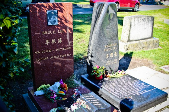The resting sights of Bruce Lee & Brandon Lee