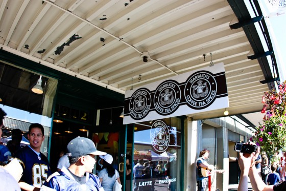 You always have to take a phot of the 1st Starbucks, no matter how many times you've been here.