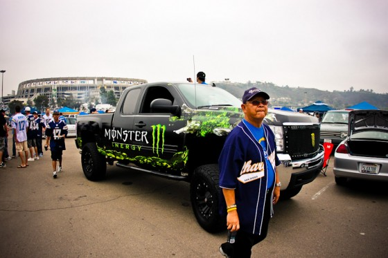 Got a visit from the Monster Energy Drink truck.