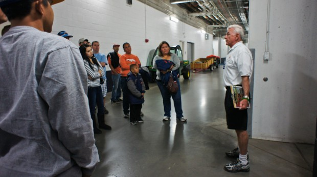 Tour guide read to show us the locker room, etc...