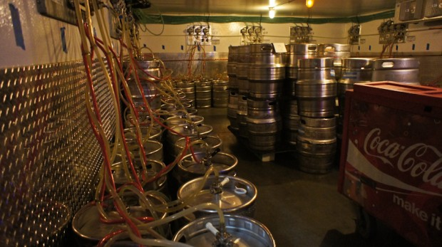 House for 200+ kegs. There are 8 of these rooms in the stadium