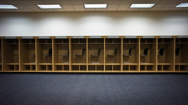 Chargers visitor locker room