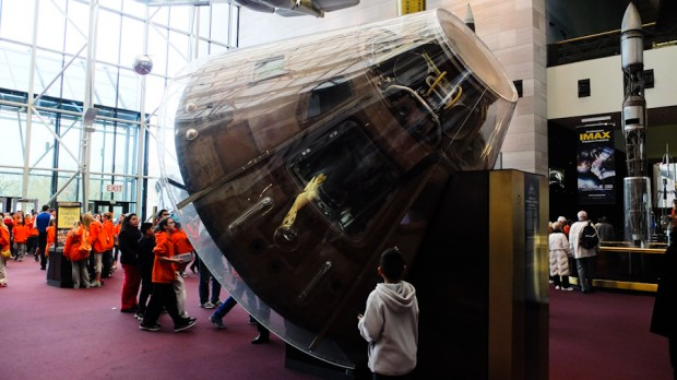 This is the actually Apollo 11 Command Module