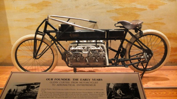 One of the first motorcycles